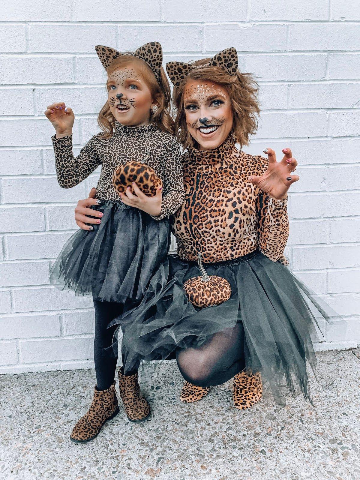 Mommy & Me Halloween Costume Ideas DIY Leopard Costumes
