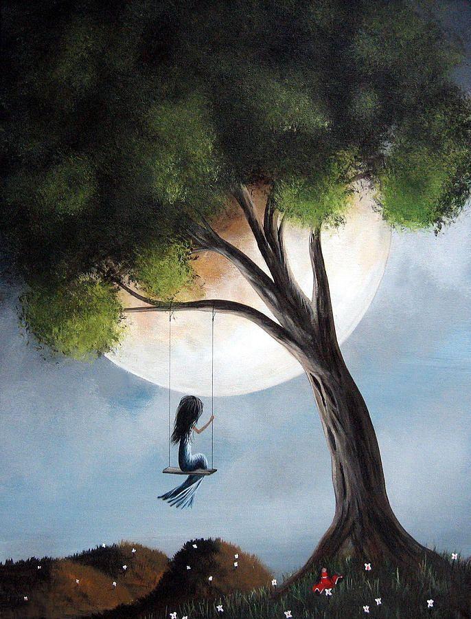 Time Alone By Shawna Erback Painting by Shawna Erback