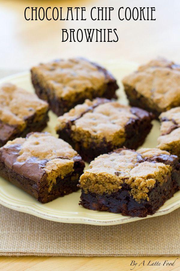 Chocolate Chip Cookie Brownie | A Latte Food