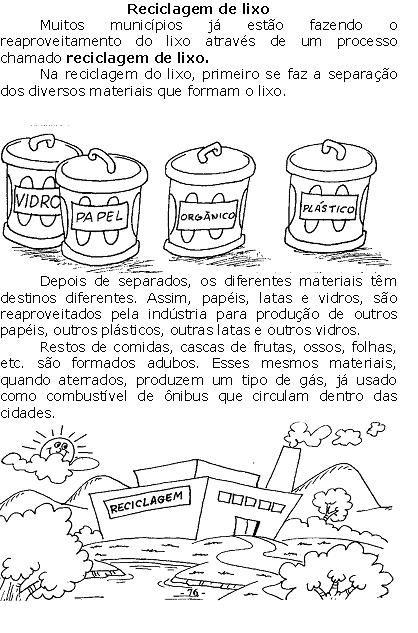 Ensinando E Aprendendo Reciclagem De Lixo Com Imagens