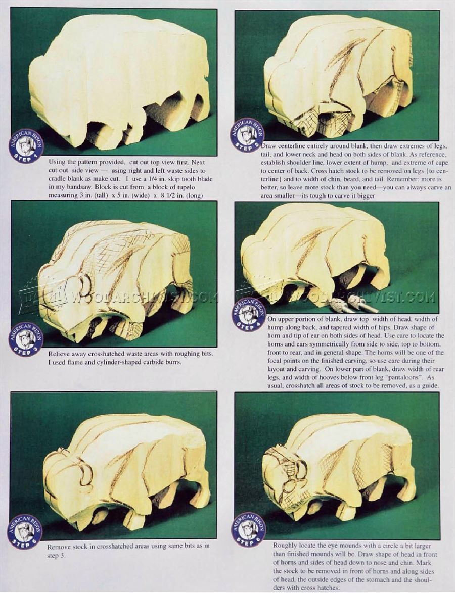 bison carving wood carving patterns wood carving patterns