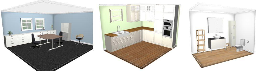 IKEA Home Planner 3Dritningar på kontor, kök och badrum