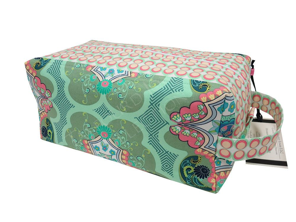 8a6547a3a3 Trellis Jumbo Toiletry Box Pouch - Makeup or Cosmetic Storage - Laminate  Toilet Bag - Knitting