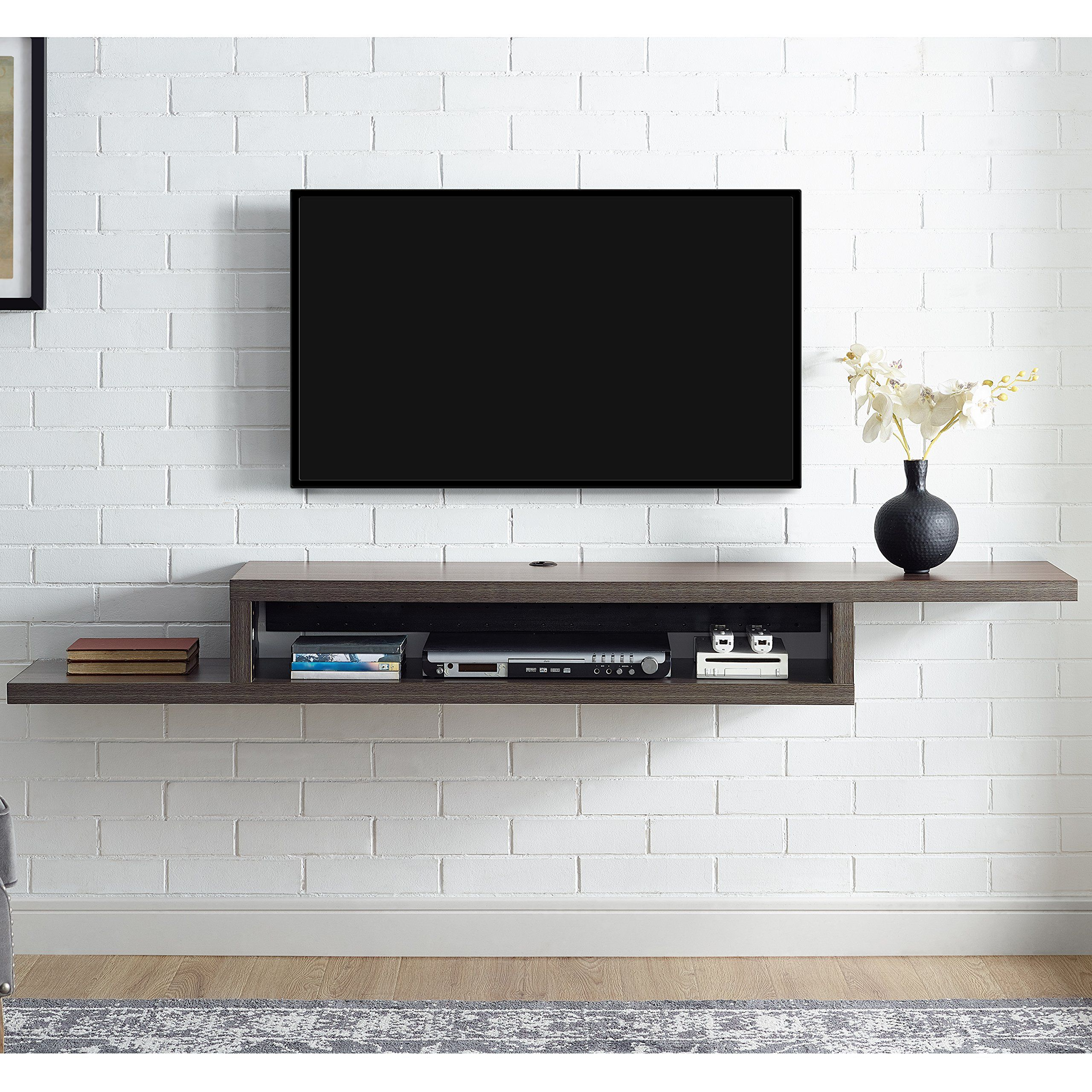 Martin Furniture Imas370s Asymmetrical Floating Wall Mounted Tv  # Meuble Tv Gamer