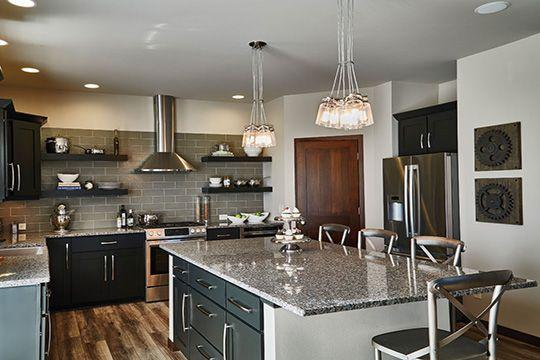 Veridian Homes  The Jackson Grandview Commons Furnished Model Enchanting Model Kitchen Designs Inspiration Design