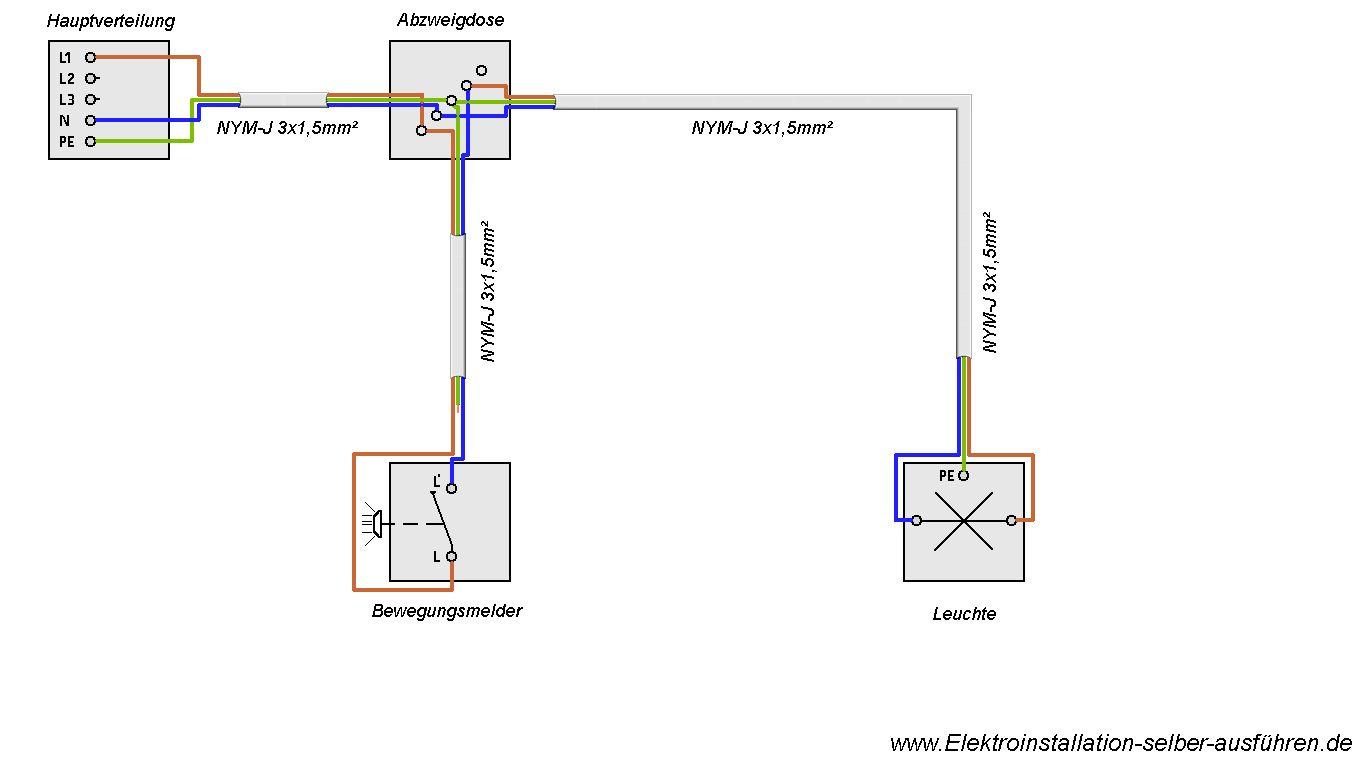 schaltplan eines bewegungsmelders ohne neutralleiter mit einer lampe elektrische schaltungen. Black Bedroom Furniture Sets. Home Design Ideas