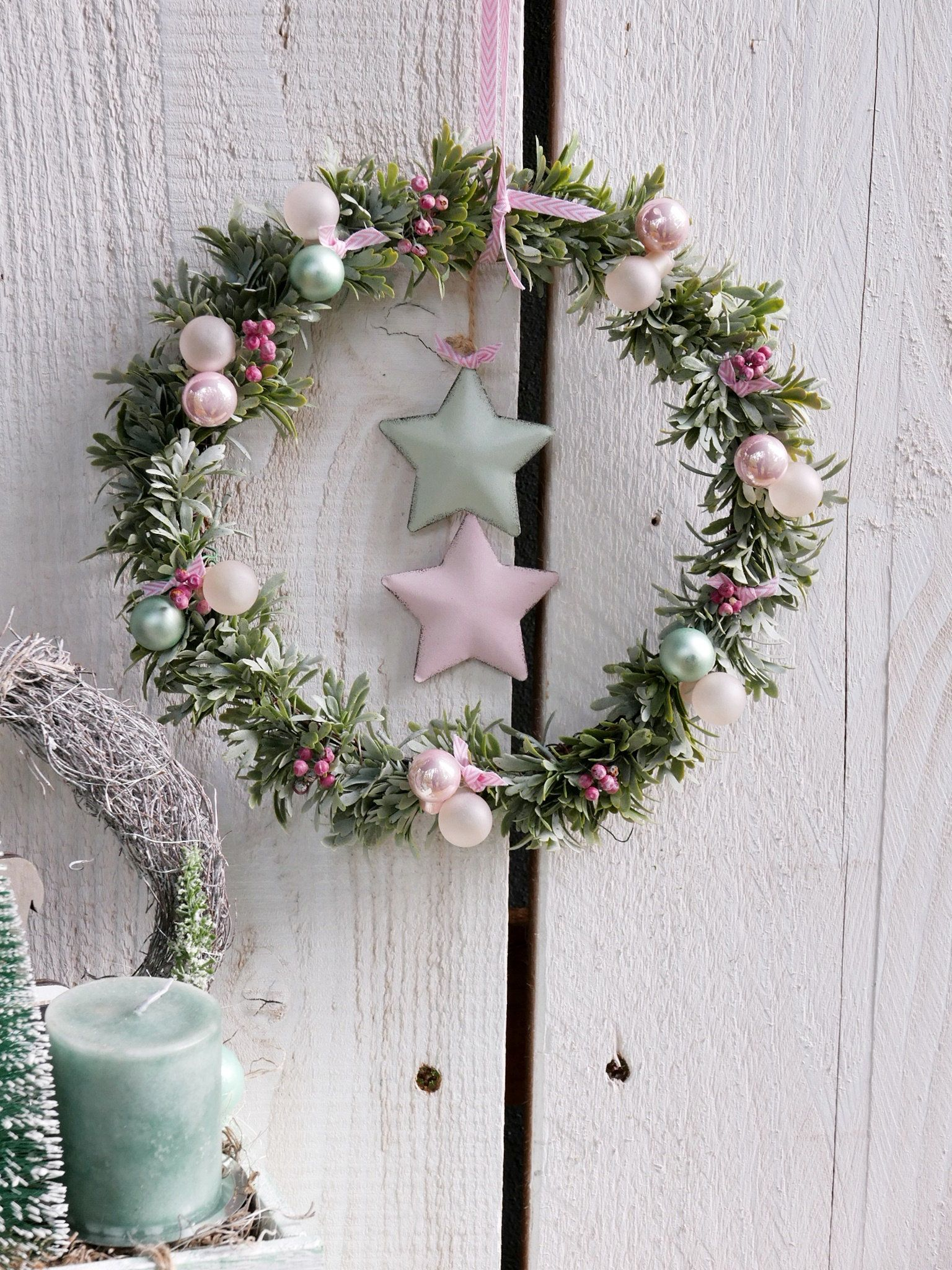 Wreath Christmas Floristik Pinterest