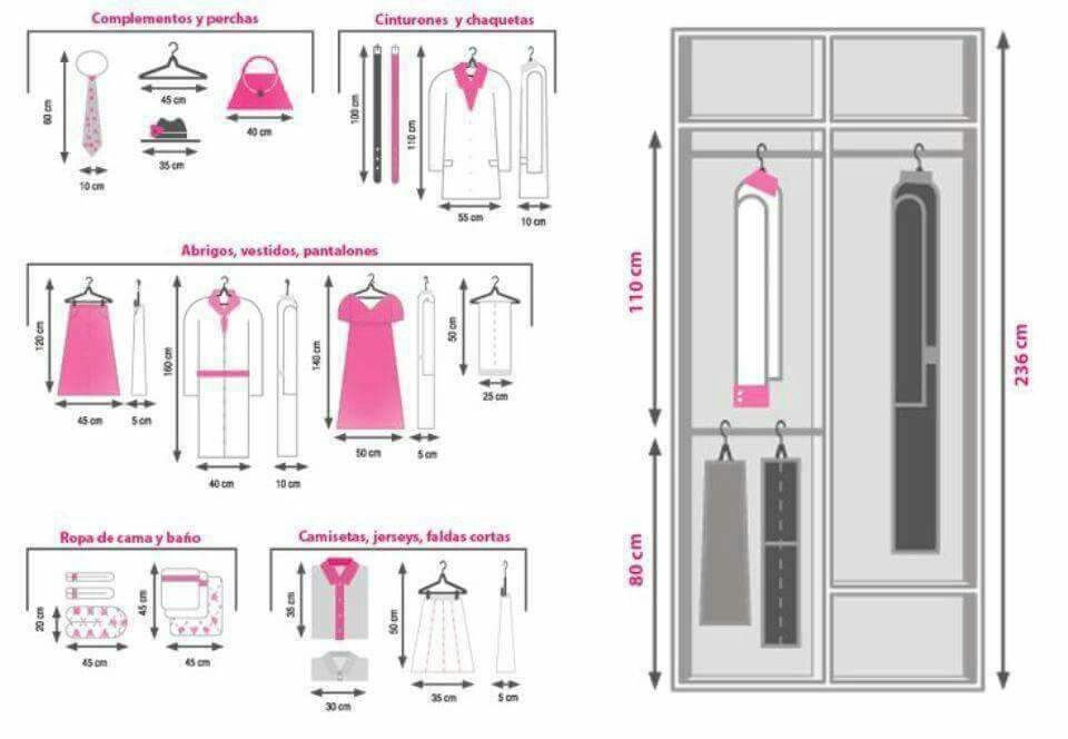 Distribuci n ropa armario casa ideas pinterest - Distribucion de armarios ...