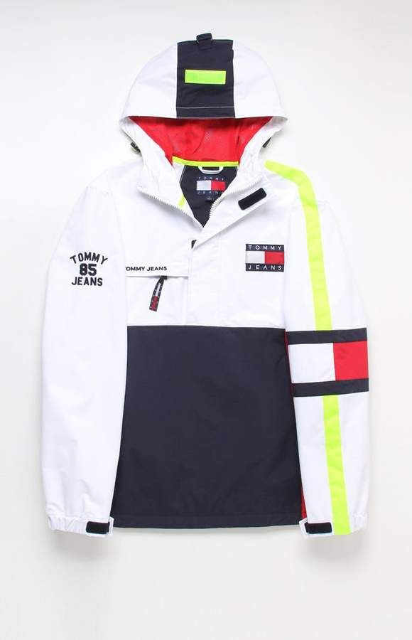 abbf199d Tommy Jeans '90s Sailing Colorblock Half Zipper Anorak | Blast from ...