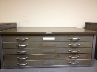 Flat file / flat files cabinet for paper print poster art by BKMM ...