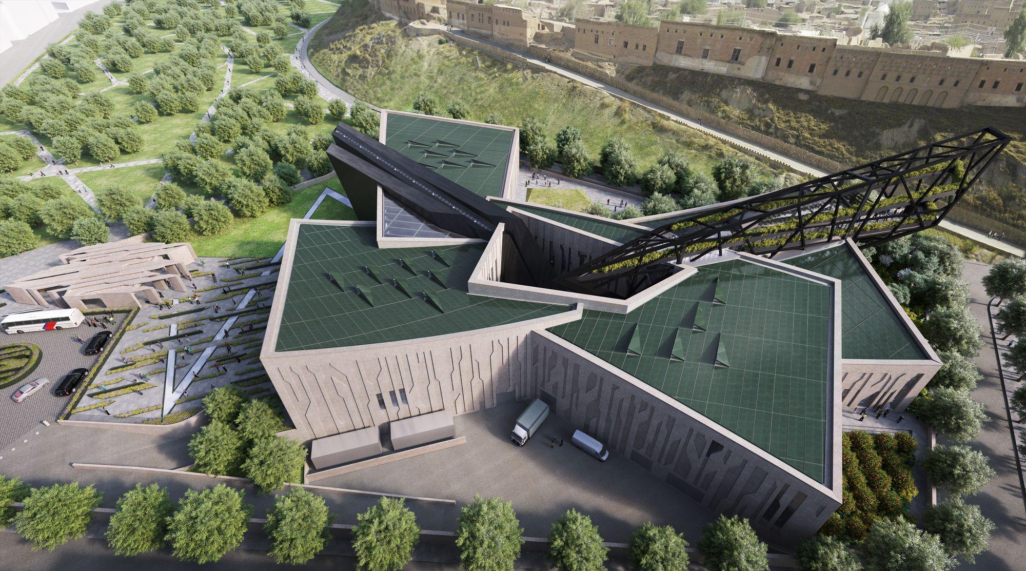 Daniel libeskind unveils design for the kurdistan museum for Daniel libeskind architectural style