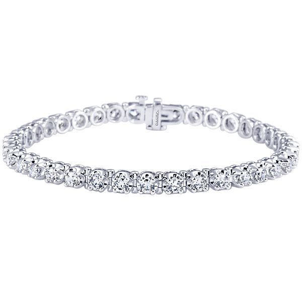 14k White Gold Lusso Diamond Style Tennis Bracelet