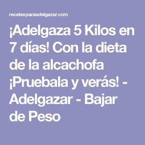 ¡Adelgaza 5 Kilos en 7 días! Con la dieta de la alcachofa ¡Pruebala y verás! - Adelgazar - Bajar de Peso