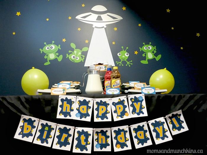 Alien Party Ideas For Kids - includes party food ideas, games, decorating ideas and more!