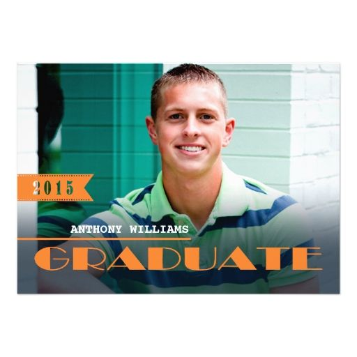 Class of 2015 Graduation Party Invitations 5 X 7 Invitation Card