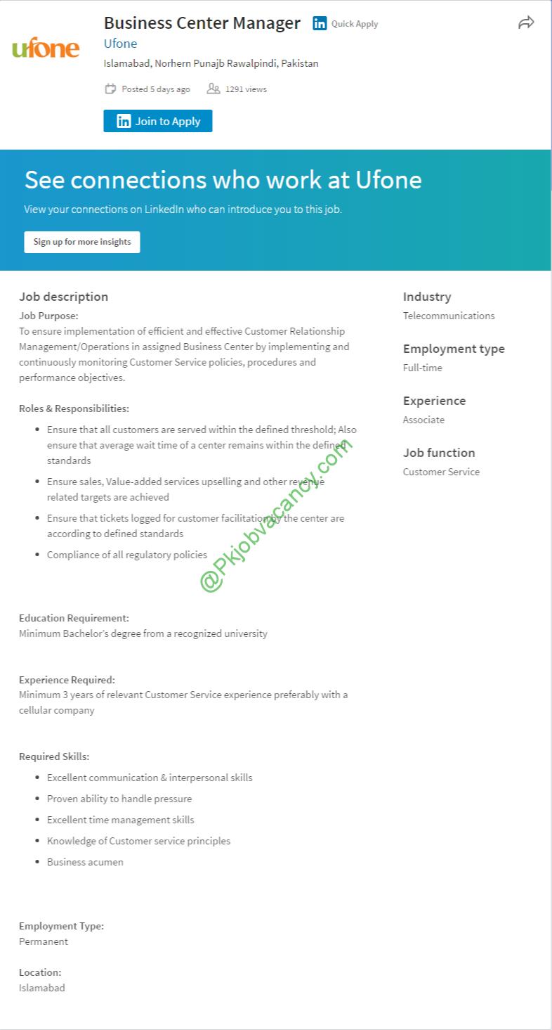 ufone job latest advertisement apply online jobs in ufone job latest advertisement apply online 2017