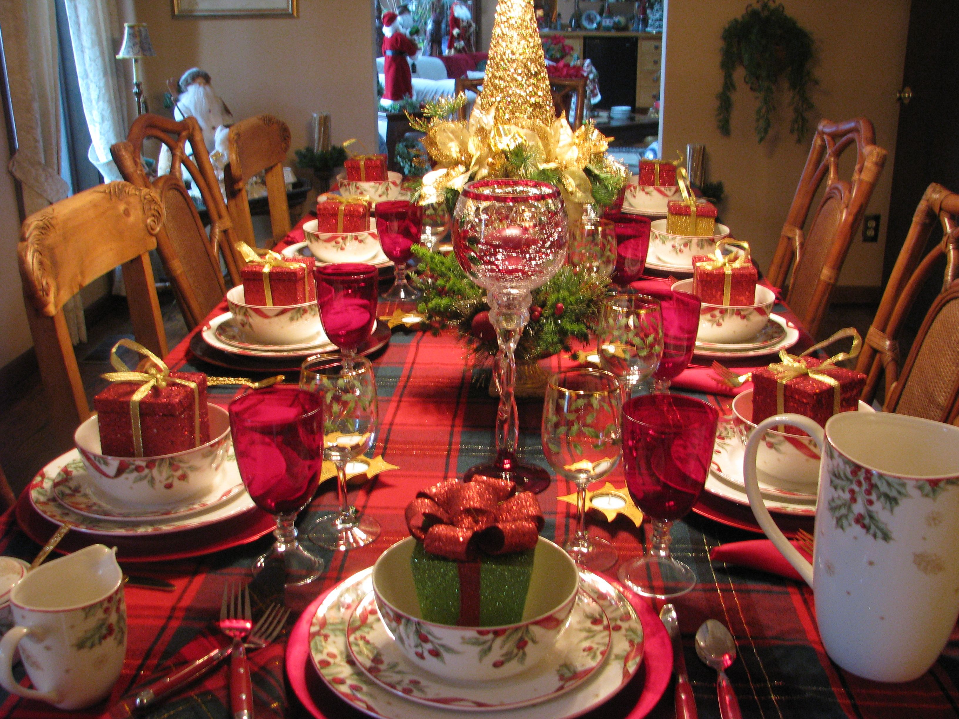 Christmas Table Christmas Tablescapes Pinterest