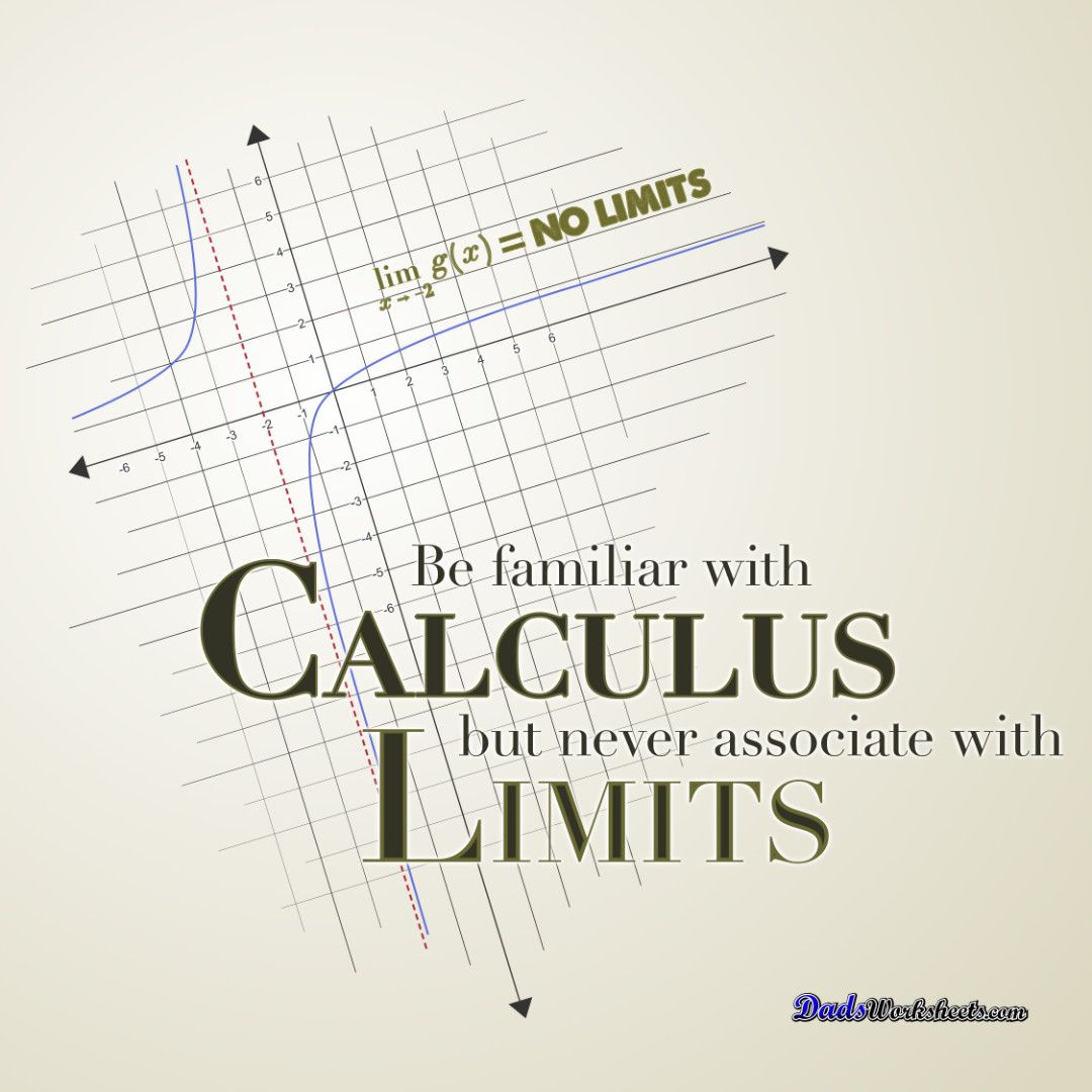 Be Familiar With Calculus But Never Associate With Limits