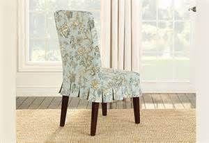 ... Sure Fit Casablanca Rose Short Dining Room Chair Slipcover, Moonstone