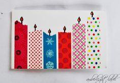 Kindergeburtstag Einladung Einladungskarte 6. Geburtstag Basteln Masking  Tape
