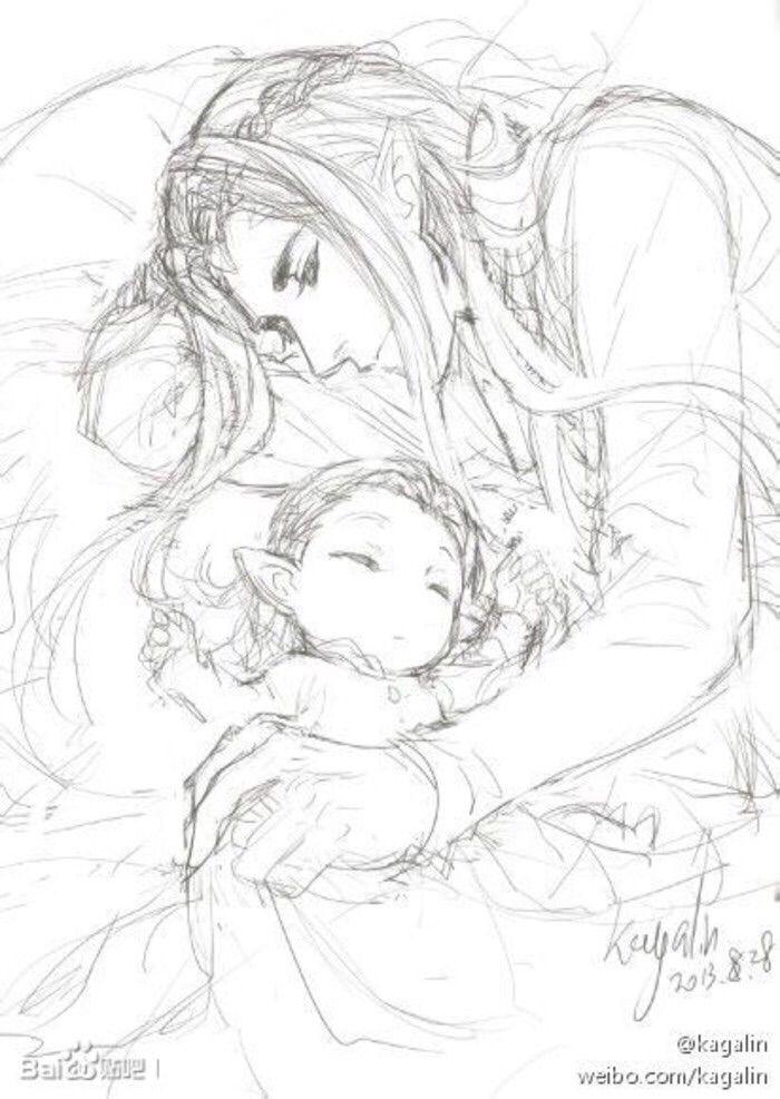 Thranduil and baby Legolas | Little Hobbit | Pinterest | Elfo, El ...