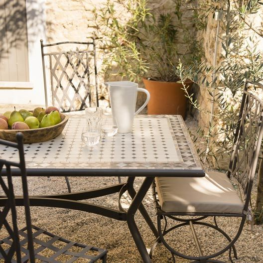 Table de jardin Marocco rectangulaire bronze 6 personnes | MAISON ...