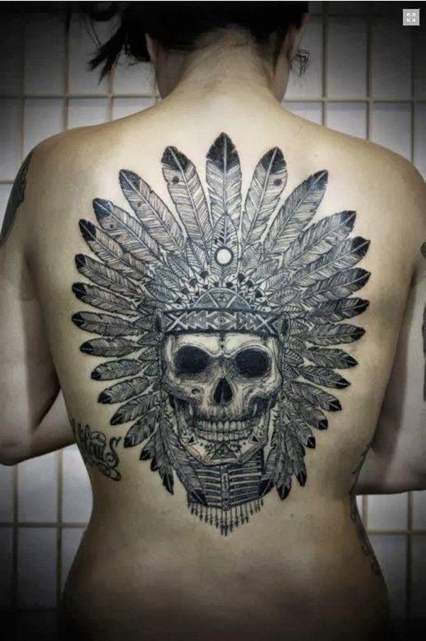 bfd4b840e 70 Native American Tattoo Designs | ink. | Indian skull tattoos ...