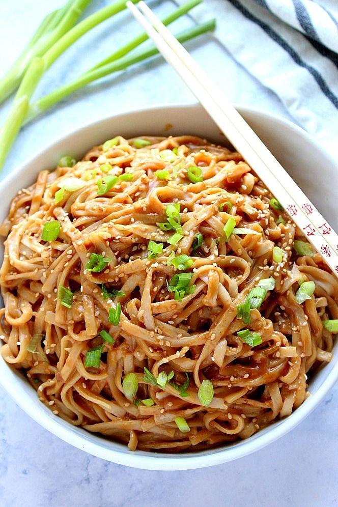 Thailändische Erdnussnudeln - Leckeres Essen #peanutrecipes