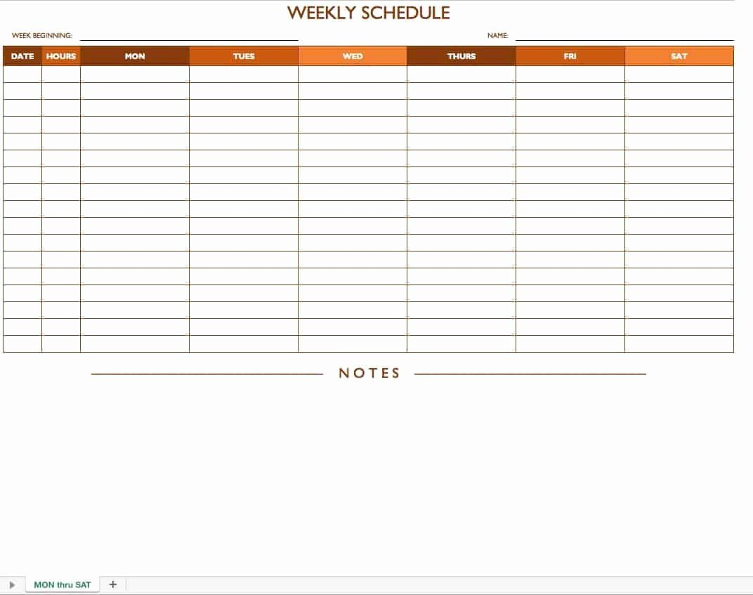 25 Blank Monthly Schedule Template In 2020 Schedule Templates
