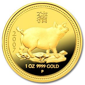 PIG YEAR CHINA New Year Comm coin for 2007