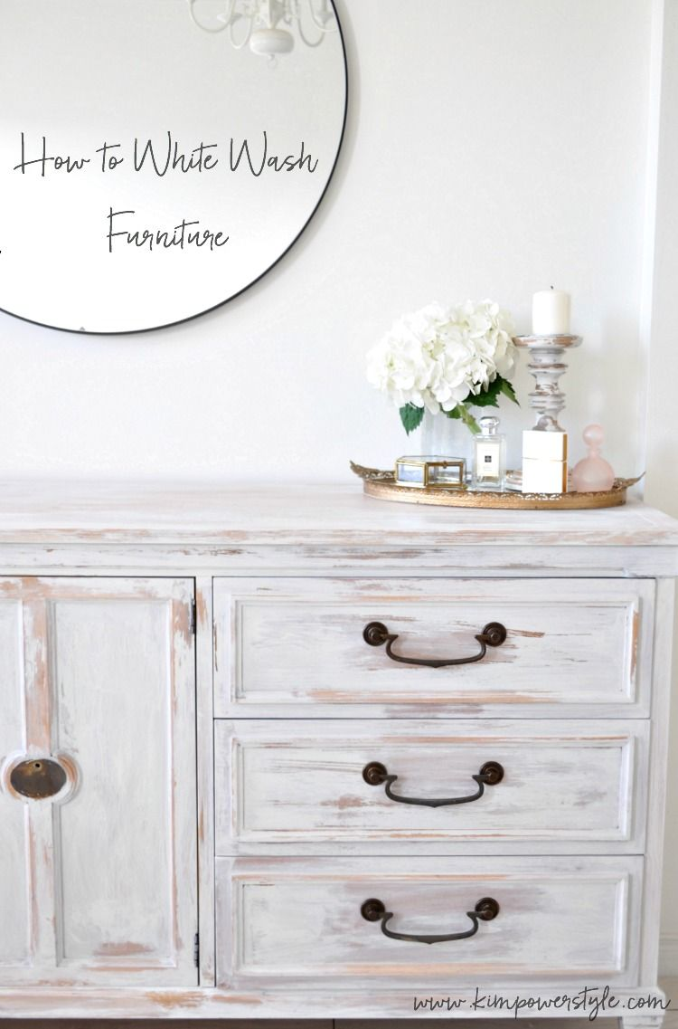 White Washed Dresser First Project In The Guest Room Makeover