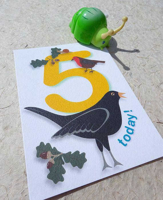 5th Birthday Card Happy 5th Birthday Card 5 Today Card Five Year