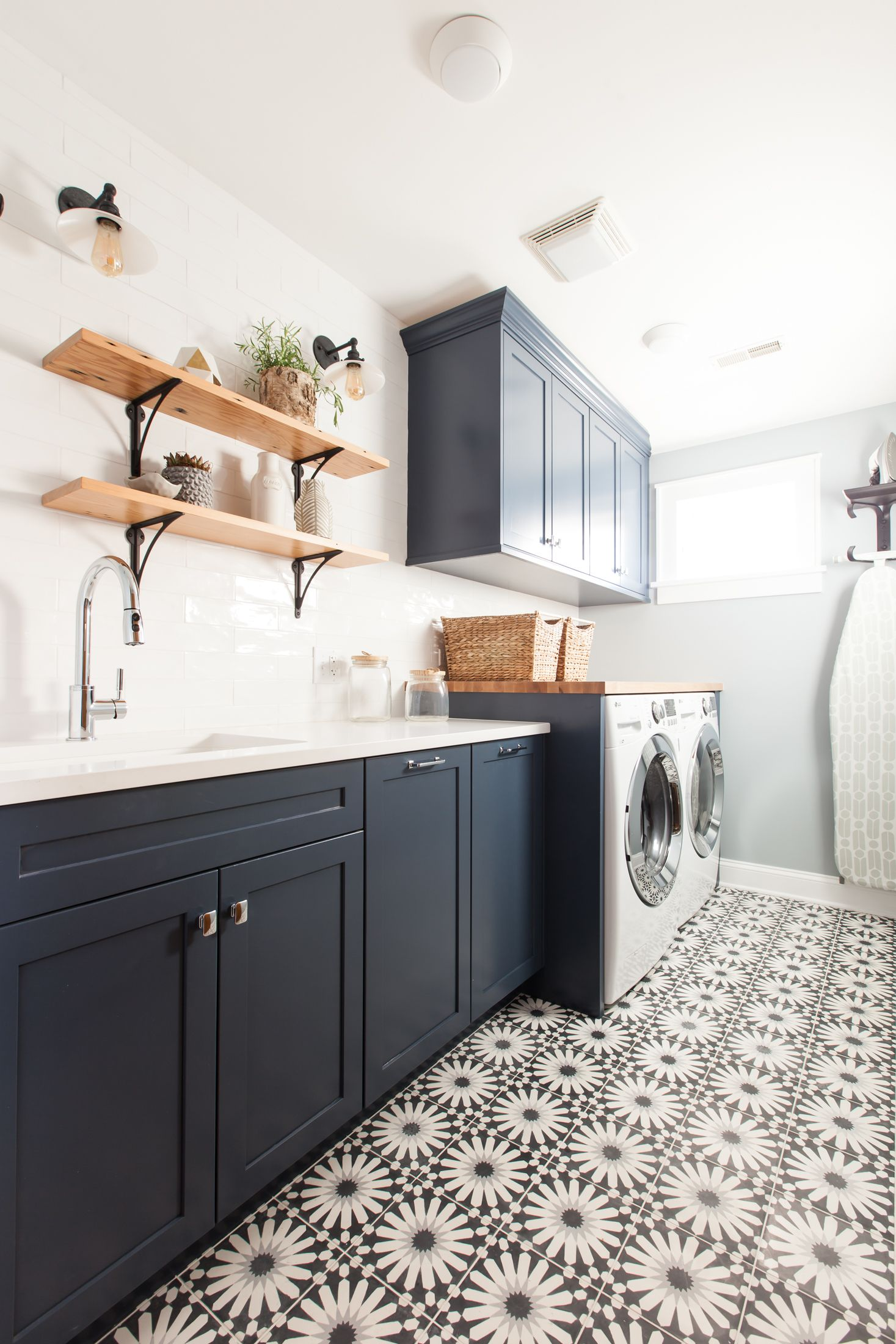 Foster Hill Design Gutted This Evanston Laundry Room We Utilized