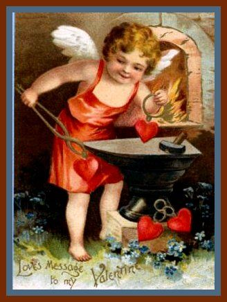 Angel Valentine Card Free Vintage Clip Art Of Valentine Angels Vintage Post  Card