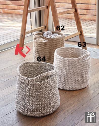 Paniers de rangement pour le salon variante 62 grand crochet   – Sewing – Bags, Totes, Pouches