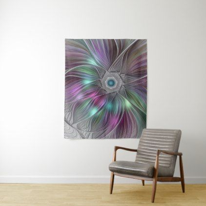 Colorful flower power abstract modern fractal art tapestry cyo colorful flower power abstract modern fractal art tapestry cyo customize design idea do it solutioingenieria Gallery