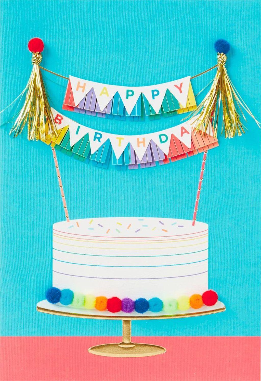 Rainbow Cake Birthday Card Hallmark cards birthday