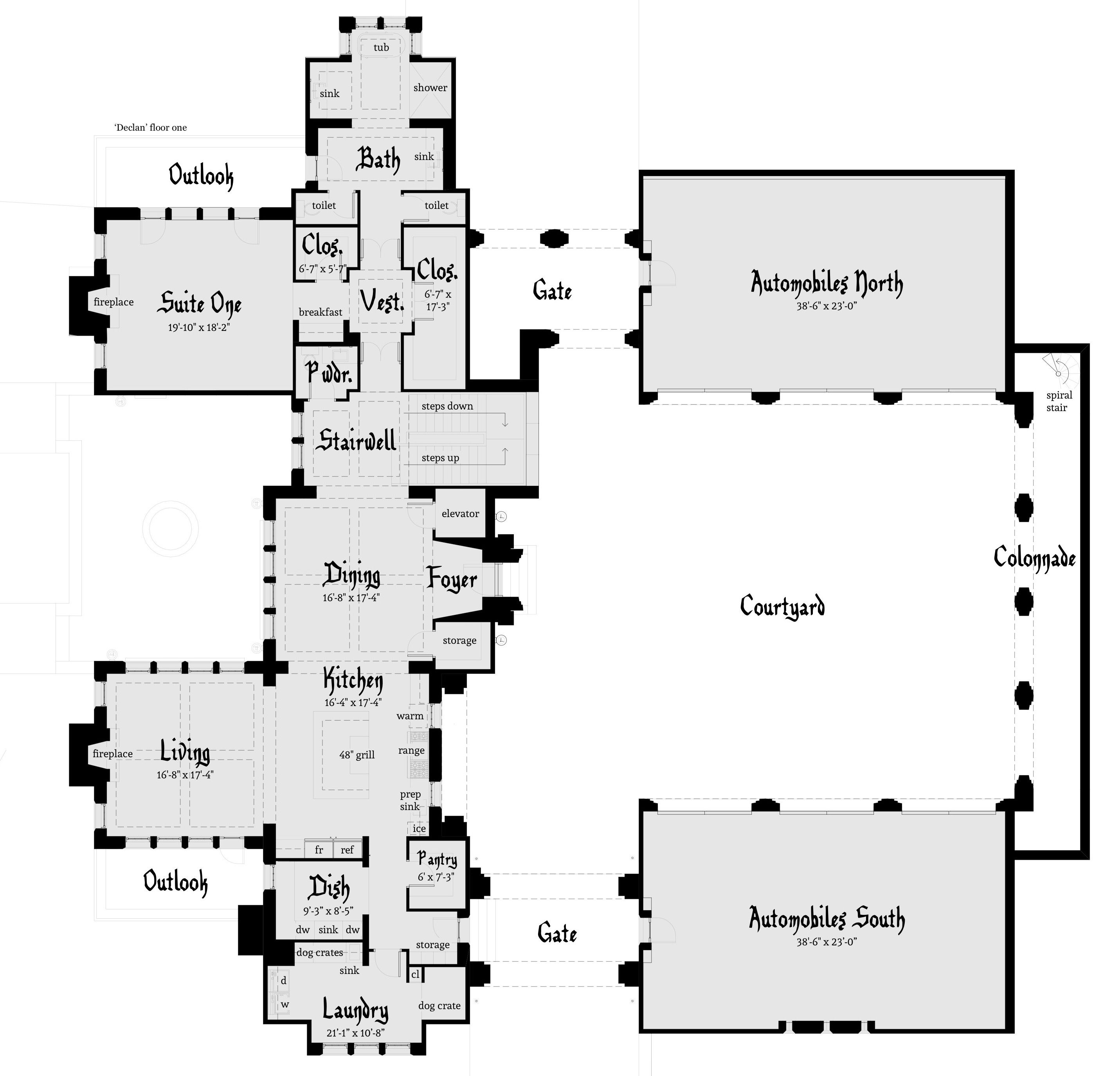 Large Castle Home 6 Car Garage Tyree House Plans Castle House Plans Castle Plans Castle House