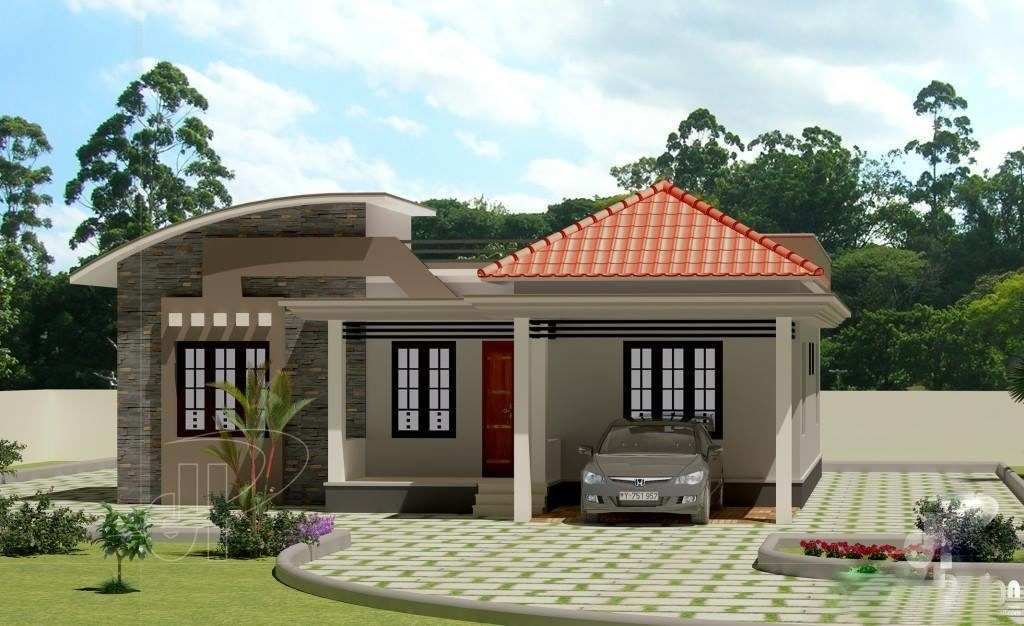 Low cost 3 bedroom modern kerala home free plan budget 3 for Small 3 bedroom house designs