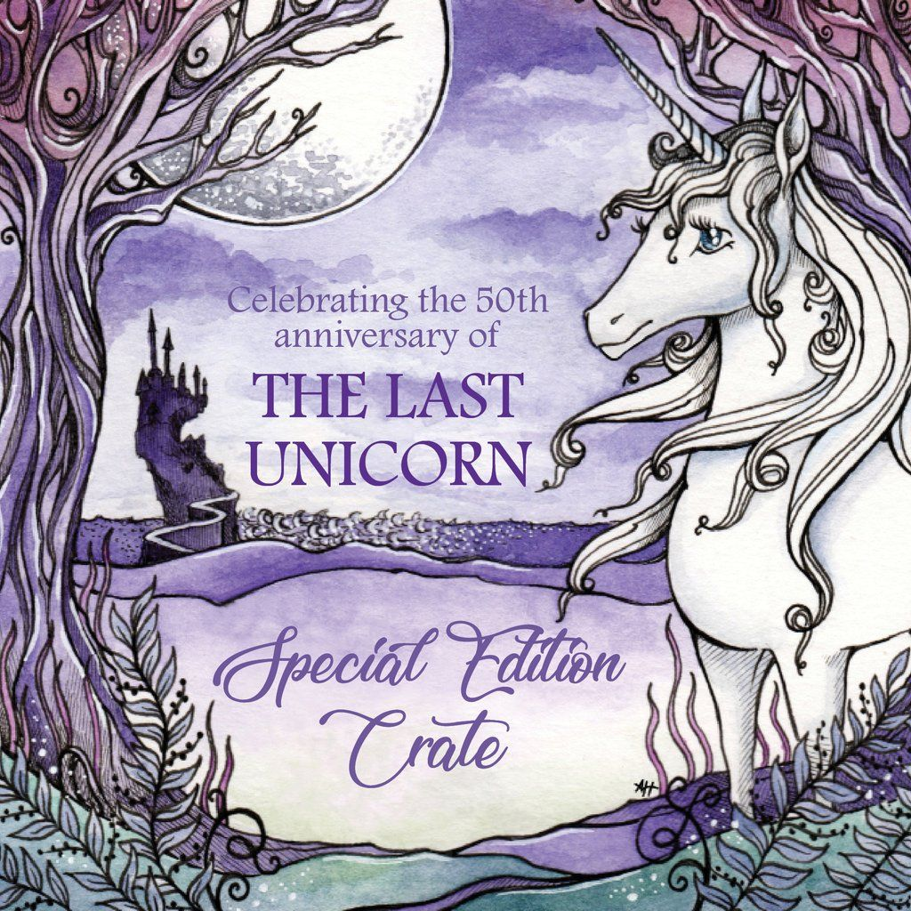 Special Edition The Last Unicorn 50th Anniversary Crate The