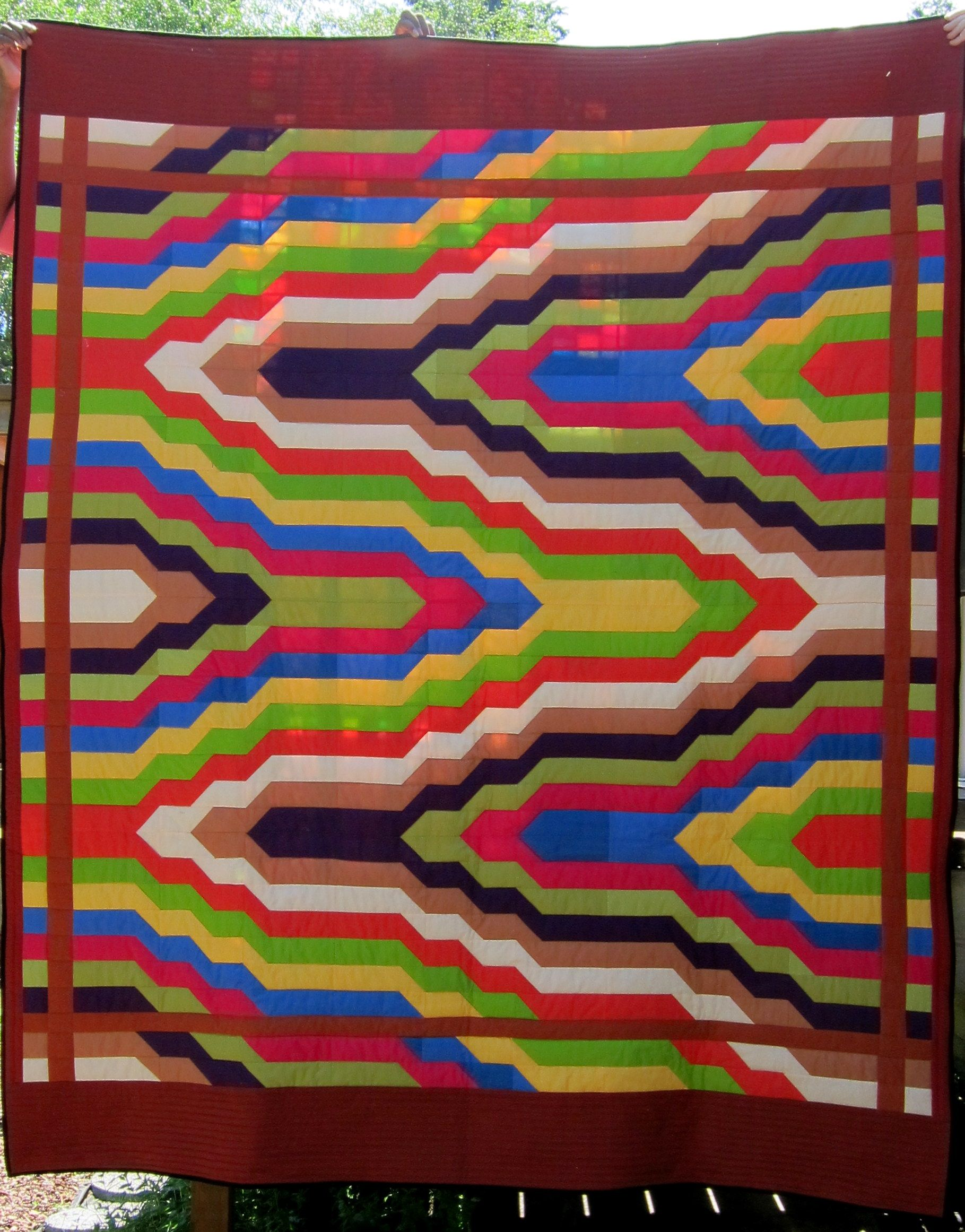 Delectable Bargello A Bargello Quilt Made From Half Square