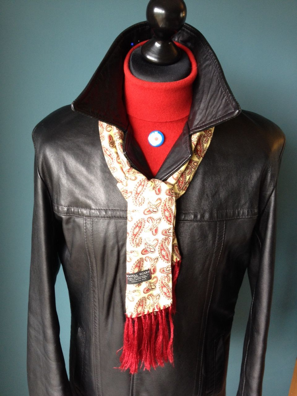Another nice leather, with a cashmere polo and a vintage