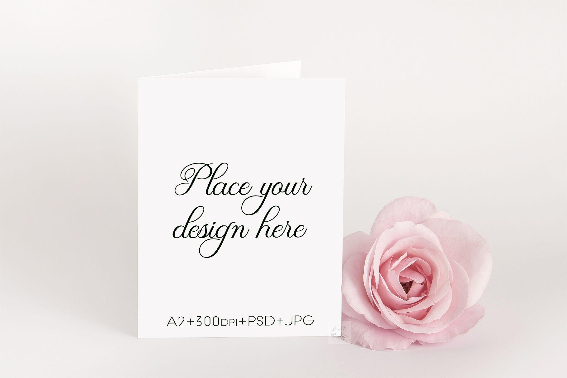 A2 Greeting Card Invitation Psd Mockup Graphic By Leo Flo Mockups Creative Fabrica Stationery Mockup Invitations Mockup Psd