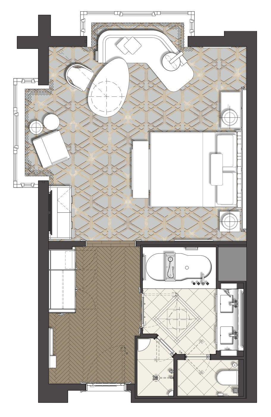 The Ritz Carlton Berlin Corner Deluxe Room 452 Sqft 42 Sqm Hotel Room Design Hotel Room Design Bedrooms Hotel Room Design Plan