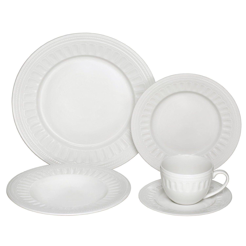 Melange English Lace 40-piece Ivory Premium Dinnerware Place Setting (Not Applicable) White (Bone China Solid). Casual DinnerwareDinnerware SetsPlace ...  sc 1 st  Pinterest & Melange English Lace 40-piece Ivory Premium Dinnerware Place Setting ...