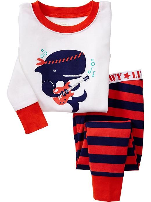 5274cad821e Valentine Pajamas  Rock and Roll Whale Pajamas for Babies And Toddlers