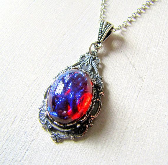 Opal necklace dragons breath jewelry fire opal jewelry victorian on opal necklace dragons breath jewelry fire opal jewelry victorian on etsy 3500 aloadofball Choice Image