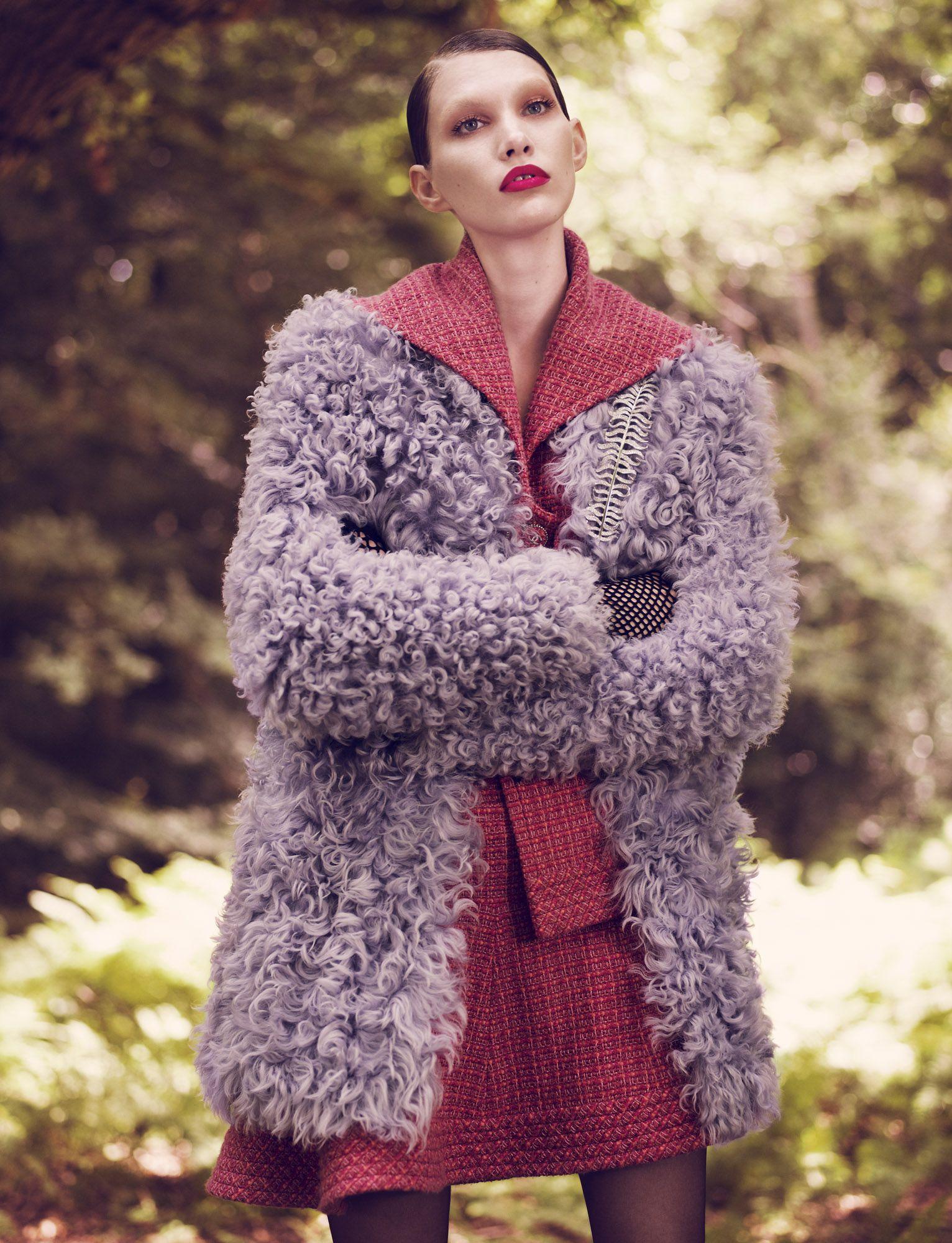 Publication: Exit Magazine Issue: Spring/Summer 2014 Title: Fur Real Model: Irina Nikolaeva Photography: Jens Langkjaer Styling: Sam Ranger Hair: Bianca Tuovi Make-up: Mel Arter
