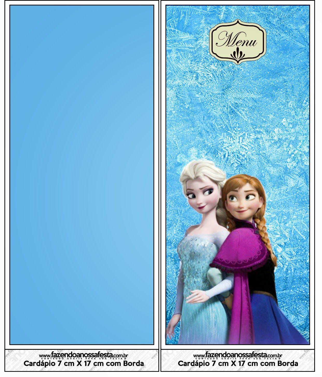Frozen: Tarjetería e Imprimibles para Candy Bar, Gratis.