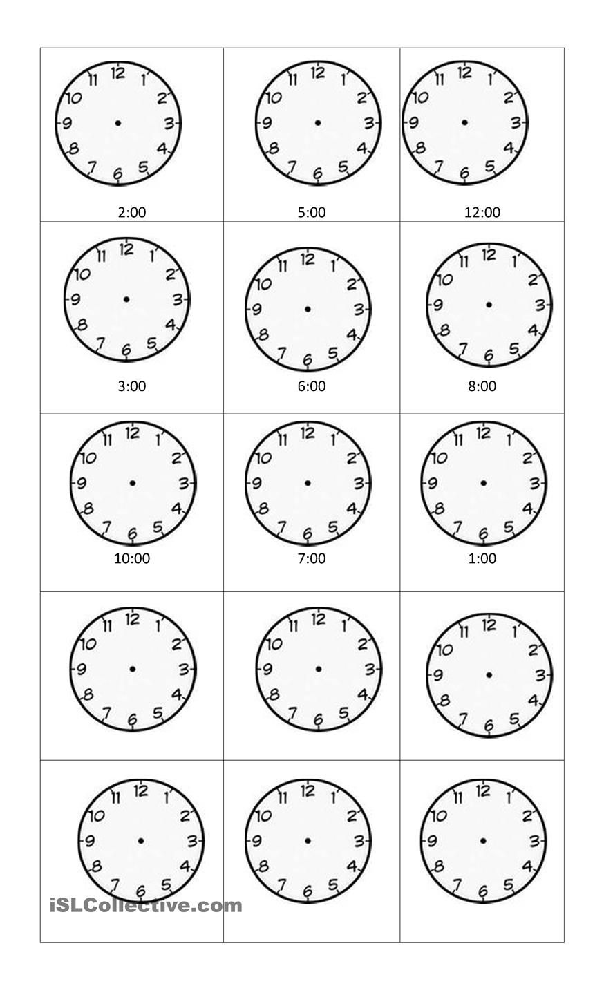 telling time Daycare ideas Pinterest